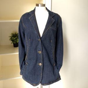 Venezia Denim Jacket 18/20 Blue Jean Stretch